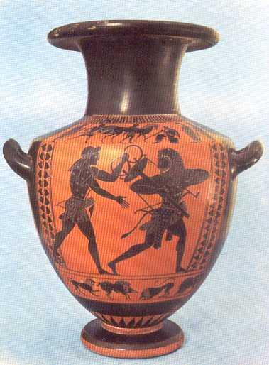 Greek Vase Painting Black And Red