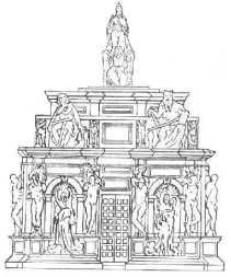 von-einem-drawing-julius-tomb-michelangelo