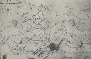 Michelangelo's study for the Battle of Cascina fresco