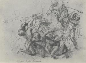 Michelangelo's study for the Battle of Cascina 2