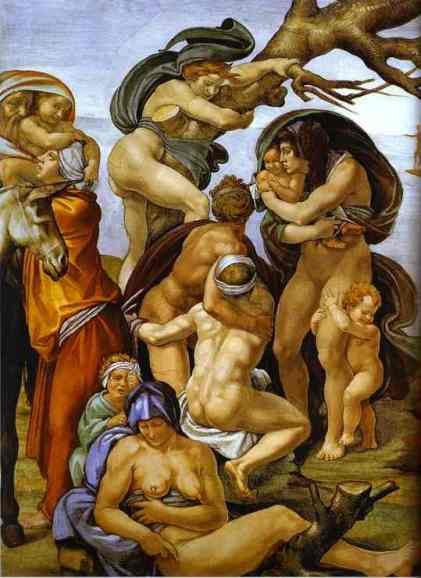 michelangelo-the_flood_detail