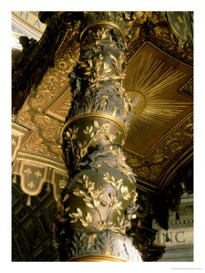 158469~Barley-Sugar-Column-from-the-Baldacchino-with-Laurel-Leaves-and-Putti-Chasing-Bees-1633-Posters