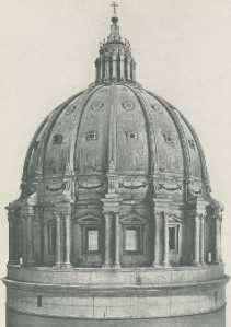 Michelangelo's model cupola St Peter's