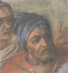michelangelo pauline self-portrait