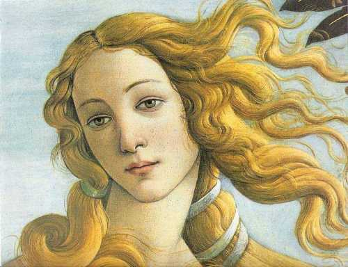 botticelli venus face 2