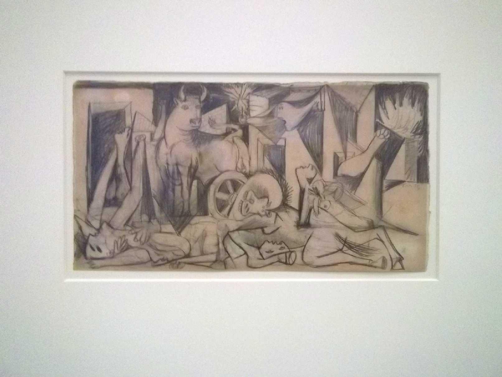Picasso Guernica Sketches Estudio para Guernica 2  c