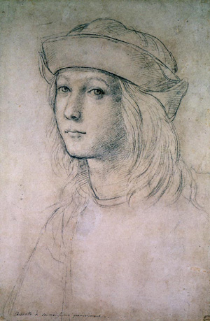 Self-portrait by Raphael Sanzio in his teens