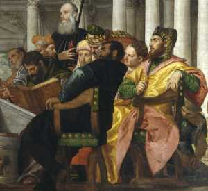 Jesus Disputes with the Rabbis by Veronese (fragment 2)