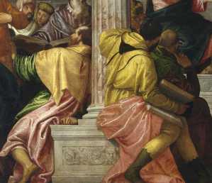 Jesús disputa con los doctores (fragmento 1)