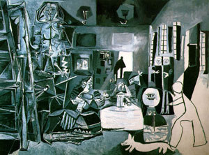 Las Meninas by Pablo Picasso,1957; Oil on canvas 194 x 260 cm; in the Museo Picasso, Barcelona