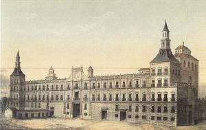 Real Alcázar or palace of Madrid, which burned down in 1734