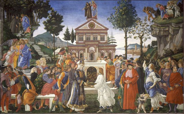 Temptations of Christ by Botticelli