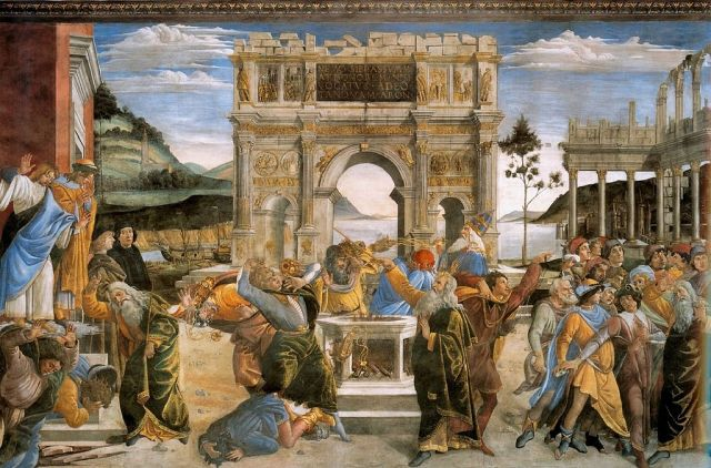 The Punishment of Korah by Botticelli