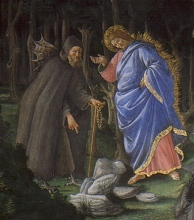 Satan tempting Christ by telling Him to change the stones to loaves of bread