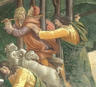 Moses drives off the shepherds