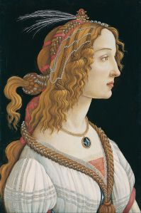 Simonetta Vespucci by Botticelli (Wikimedia public domain photo)